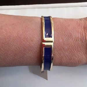 Jewelry - Gold And Navy Cuff Bracelet.