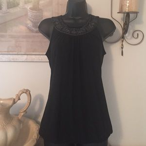 Limited black sleeveless top XS