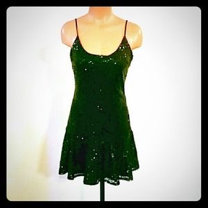 Lucca Couture Dresses & Skirts - Sequin Lucca Couture Ruffle Dress