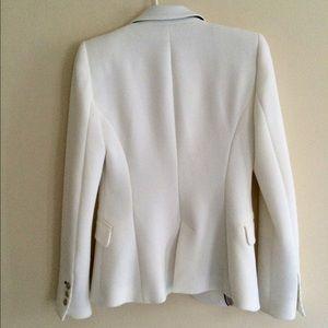 Zara Jackets & Coats - PRICE DROP! Zara White Blazer Jacket gold buttons