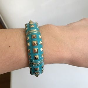 Light Blue Cuff Bracelet.