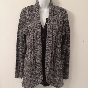 Marled open front sweater cardigan. NWOT