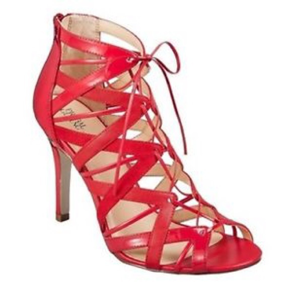 ae4ea53050ff ... Target red lace up sandals 7.5. M 571eadcafbf6f905420019ab