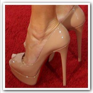 1e83fa92415b Christian Louboutin Shoes -  945 CHRISTIAN LOUBOUTIN LADY PEEP 160 NUDE 38