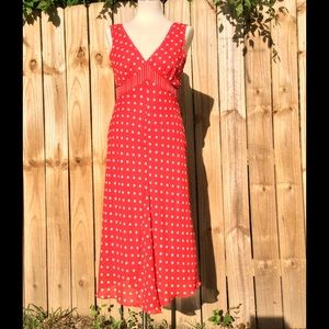 Adorable red/cream maxi dress by Jonathan Martin