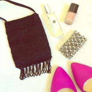 Arden B Handbags - Beaded Black Mini Bag