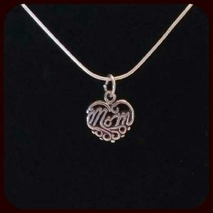 """Jewelry - 🌟New!🌟 .925 Sterling """"Mom"""" Necklace"""
