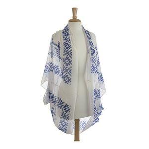 Boutique Tops - Bo-ho Chic ✂️ Royal Blue Shrug ✨HP✨