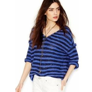 Free People spells trouble striped pullover