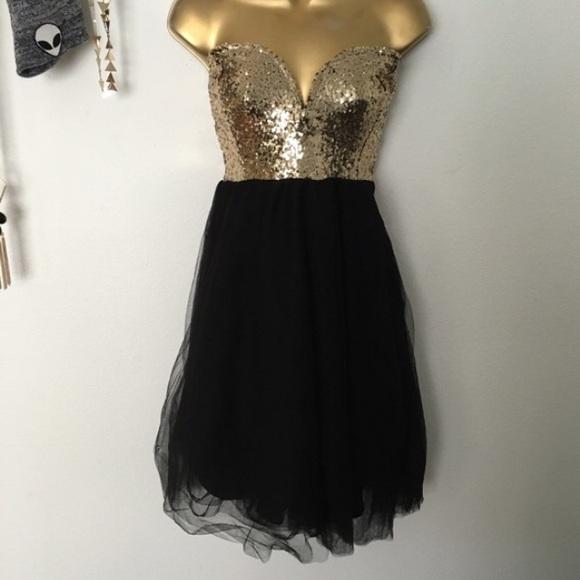 bc8be59031416 Charlotte Russe Dresses | Black Gold Dress | Poshmark