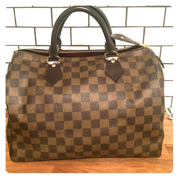 4f60a117732 Authentic Louis Vuitton Speedy 30 - Damier Ebene