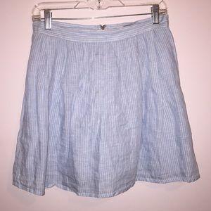 Forever 21 blue and white striped skirt