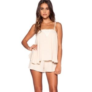 Eternal Sunshine Creations Dresses & Skirts - Eternal Sunshine flowy cream romper