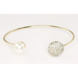 "Adia Kibur Jewelry - Adia Kibur ""Crystal & Pearl Bracelet"""