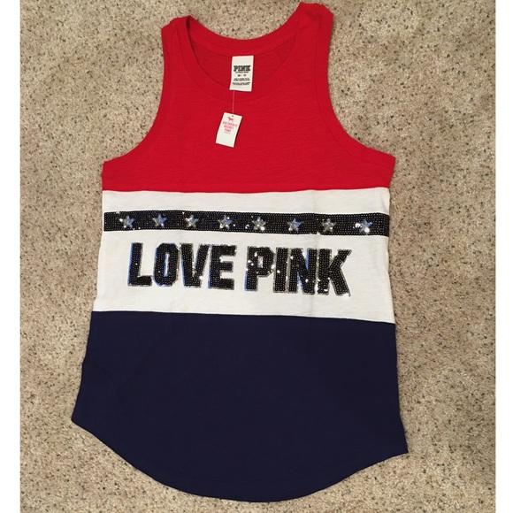 PINK Victoria's Secret - NWT:Victoria's Secret Pink July 4th Bling ...