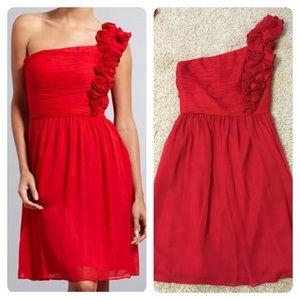 Ellen Tracy Dresses & Skirts - Ellen Tracy Dress Lipstick Red One Shoulder Dress