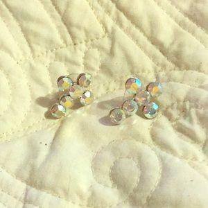 Jewelry - AB cross earrings