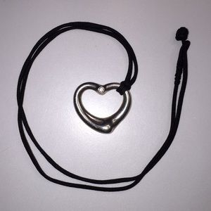 Tiffany & Co. Elsa Peretti Diamond Heart Necklace