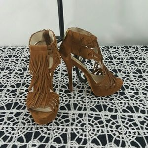 Zigi Soho Shoes - Nwot  suede fringe  Sable heels