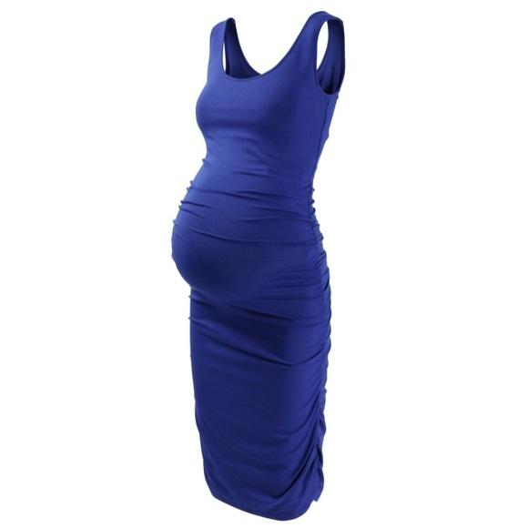 Isabella Oliver Dresses Isabella Oliver Ruched Tank Dress In French Blue Poshmark