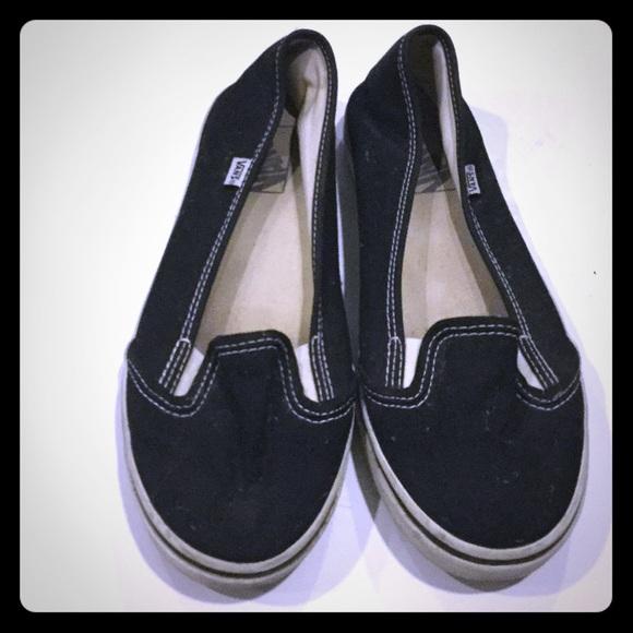 Vans Shoes | Vans Slip On Flats Black