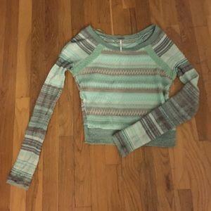 Striped Free People Sweater
