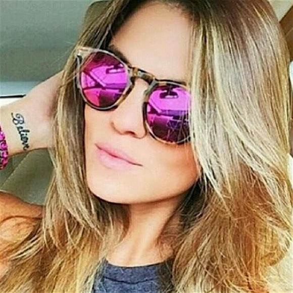 9fcfaef01ab Illesteva Accessories - Illesteva Pink Mirror Tortoise Sunglasses