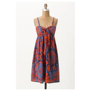 Anthropologie Tied Campanula Dress