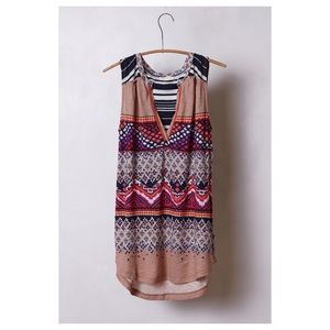 Anthropologie Split Image Top