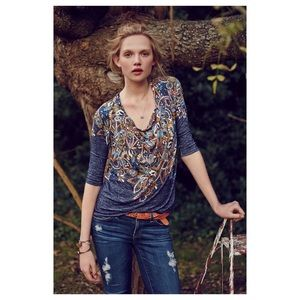 Anthropologie Jacaranda Top