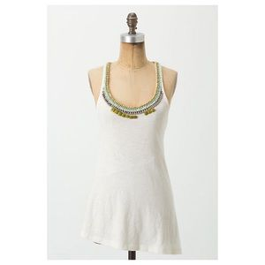 Anthropologie Staccato Garnish Racerback Tank