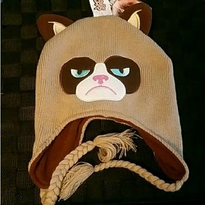 Unisex Grumpy Cat Go Away Knit Cap Fine Knit Beanie Hats for Mens Womens