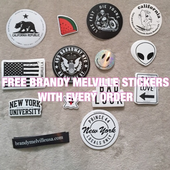 FREE BRANDY MELVILLE STICKERS
