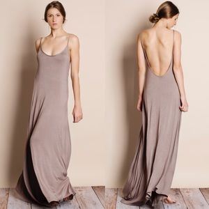 Low Back / Backless Maxi Dress