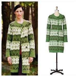 Anthropologie Pine Cricket Sweater Coat