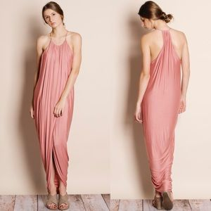 """At Last"" Draped Front Tulip Dress"