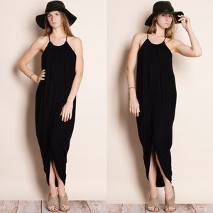 """At Last"" Draped Front Tunic Dress"