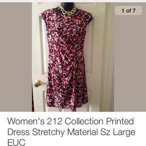 Dress 212 collection short sleeve dress nwt 212 collection wrap dress