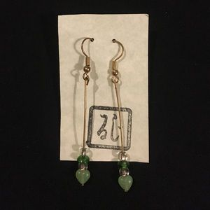 Jewelry - True vintage jade dangle  earrings from the 1940s