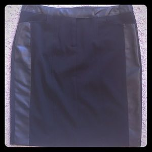 Black skirt with leather panels