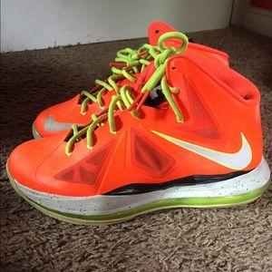 lebron 10 neon orange