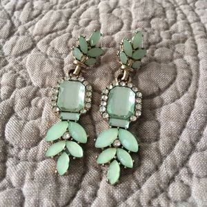 Gorgeous mint and gold earrings