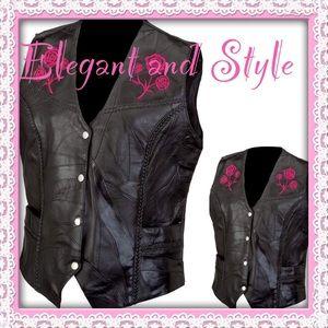 Jackets & Blazers - Limited Stock Ladies' Rock Buffalo Leather Vest