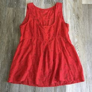Closed Tops - Closed Red Silk/Cotton Sleeveless Blouse