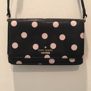 kate spade Handbags - Kate Spade Black with Polka Dots Crossbody Handbag