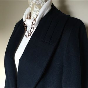 Vintage Jackets & Blazers - 🦋 VINTAGE Wool Trench Coat Navy Discontinued RARE