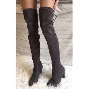11d453384ca Catherine Malandrino Shoes - Catherine Malandrino Over The Knee Grey tie  boots
