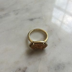 Kendra Scott Jewelry - Gold Drusy Ring