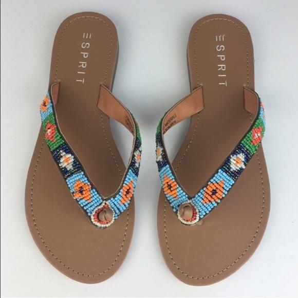 415c200281612 ESPRIT Shoes -  Esprit  Boho Bead Thong Sandals Beach Chic Tribal