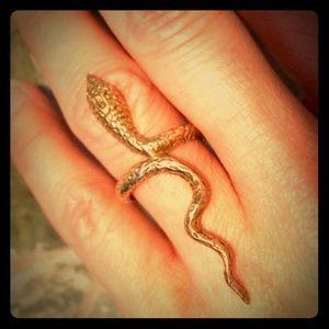 Soixante Neuf Jewelry - Soixante Neuf serpent ring, 14K overlay
